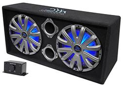 """NYC Acoustics NSE212L Dual 12"""" 1800w Powered/Amplified Car S"""