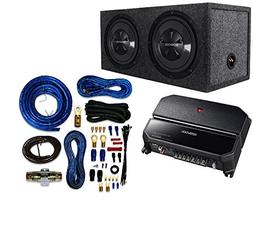 "Kenwood P-W1221 Car Audio Package with Dual 12"", 3/4"" MDF Se"