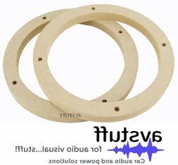 "PAIR CAR STEREO AUDIO SPEAKER SPACERS 6.5"" INCH MDF SONY JBL"