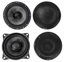 "Pair American Bass SQ 6.5""+SQ 4.0"" Car Audio Speakers with N"