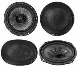 "Pair American Bass SQ 6.5""+SQ 6.9 6x9"" Car Audio Speakers w/"