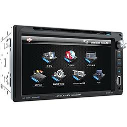 Power Acoustik PD 651B Double-DIN In-Dash LCD Touchscreen DV