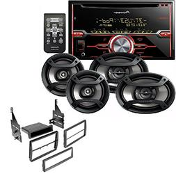 "Pioneer Package: CD Receiver Double Din, Pair 6.5"" 2-Way & P"