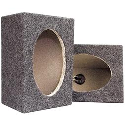 Pyramid PMB69MT 6 x 9 Carpeted Wood Speaker Cabinets Pair Ca