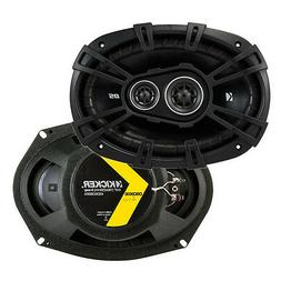 "Kicker D-Series 6x9"" 360 Watt 3-Way Car Audio Coaxial Speake"