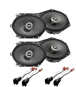 "New 2Pairs Infinity PR8602cf 6""x 8"" 5""x 7"" 2-Way Speakers 18"