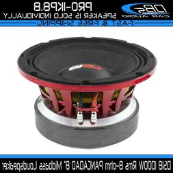 "DS18 PRO-1KP8.8 8"" Midbass Car Speaker 1000W Rms 8-ohm Pro A"