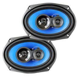 "QPower  6x9"" 700 Watt 3-Way Car Audio Stereo Coaxial Speaker"
