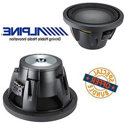 "Alpine R-W12D2 12"" Dual 2 OHM Type-R 2250W Pro Loud Subwoof"