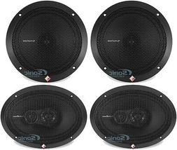 "Rockford Fosgate R169X3 6x9"" 260W Speakers + R1675X 6.75"" Ca"