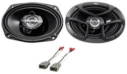 "Rear 6x9"" JVC Factory Speaker Replacement Kit For 2003-2007"