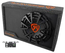 "Rockville RWS12CA Slim 1200 Watt 12"" Amplified Powered Car S"