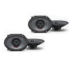 Alpine SPR-68 6x8 Coaxial 2-Way Speaker Set Bundle