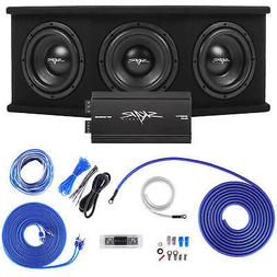 "SKAR AUDIO TRIPLE 8"" 2100W SDR COMPLETE BASS PKG LOADED SUB"