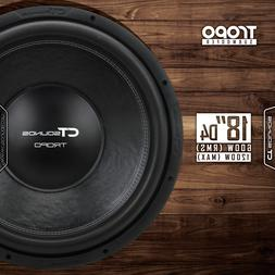 CT Sounds Tropo 18 Inch D4 600 Watt RMS 18 in Dual 4 Ohm Car