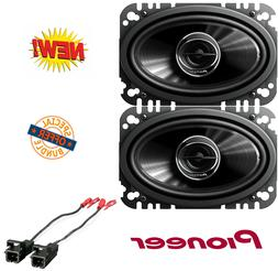Pioneer TSG4645R 4 x 6 2Way 200W Car Speakers W/ Metra Speak