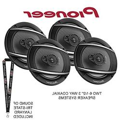"Two Pioneer TS-A652F 6-1/2"" 3 Way Coaxial Speaker Systems"