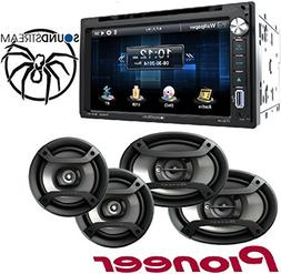 Soundstream VR-651B Double DIN Multimedia Source Unit with 6