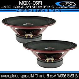 "DS18 PRO-X10M Loudspeaker - 10"", Midrange, Red Steel Basket,"