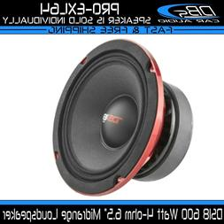 "DS18 PRO-X10MBASS Loudspeaker - 10"", Midbass, Red Steel Bask"