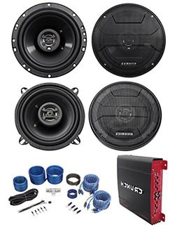 "Hifonics ZS653 6.5"" 600W Speakers+ 5.25"" Speakers+4-Ch Ampl"