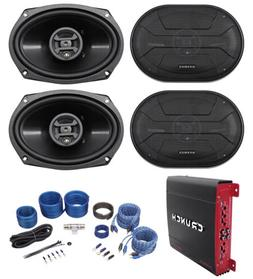 "Hifonics ZS693 6x9"" 1600 Watt Car Audio Speakers+4-Channel"